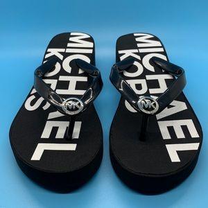 Michael Kors Graphic Logo Flip Flop Sandal Size M